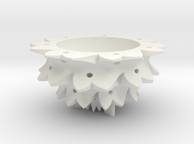 Flower Bowl in White Natural Versatile Plastic
