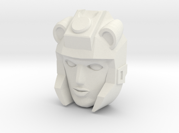 Moonracer Face (Titans Return) in White Natural Versatile Plastic