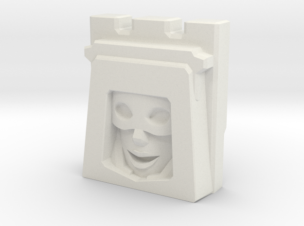 Gobots Smallfoot Face (Titans Return) in White Natural Versatile Plastic