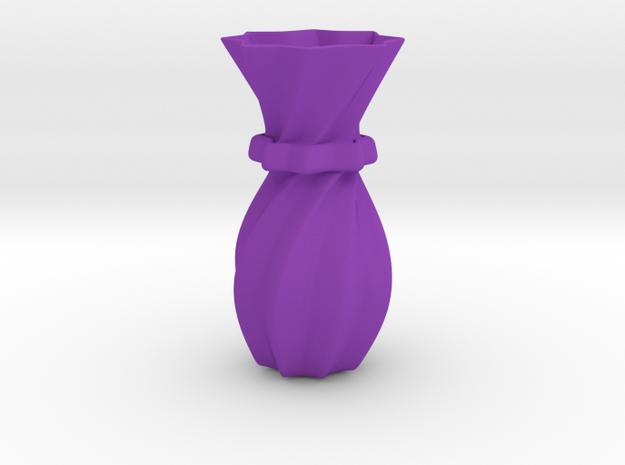 Decorative Vase in Purple Processed Versatile Plastic