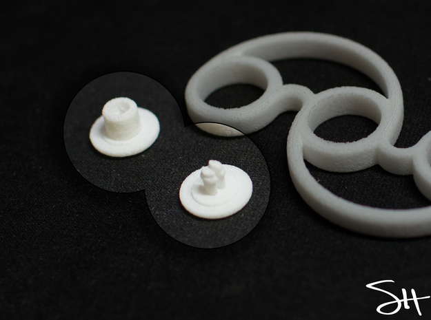 Bearing Cap for Micro Fidget Spinners - 5mm ID in White Strong & Flexible