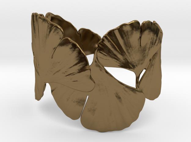 Ginko Bracelet size M,L,XL in Polished Bronze: Medium