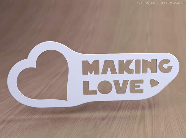 "Door-hanger ""Making Love"" (large) 3d printed"