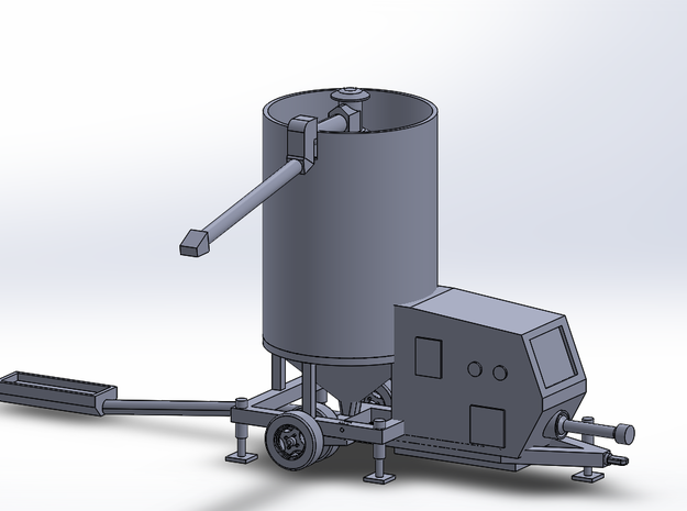 N-scale Portable Grain Dryer - Working in Frosted Ultra Detail