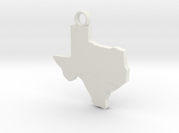 Texas Key Ring in White Natural Versatile Plastic