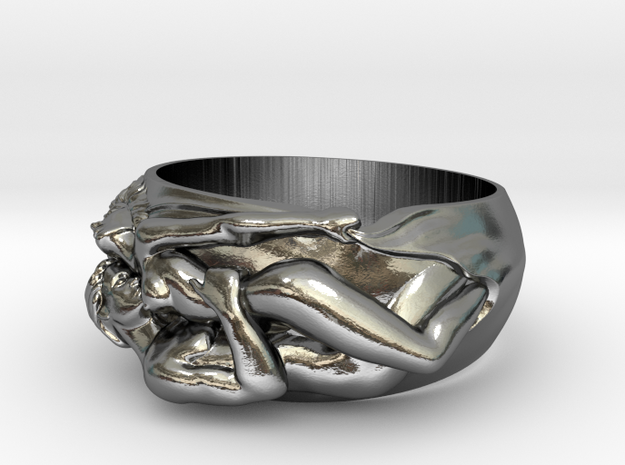 Lovers Ring Sz 6.5 in Polished Silver