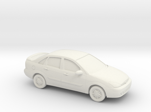 1/43 2000-04 Ford Focus Sedan in White Natural Versatile Plastic