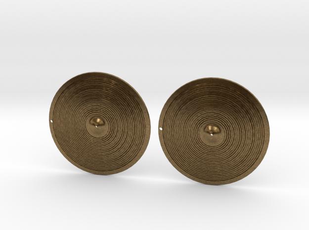 Earrings- Bronze Cymbals in Raw Bronze