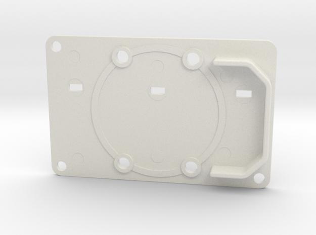 Boba Fett ROTJ: EE-3 Blaster Rear Stock Greeble in White Natural Versatile Plastic