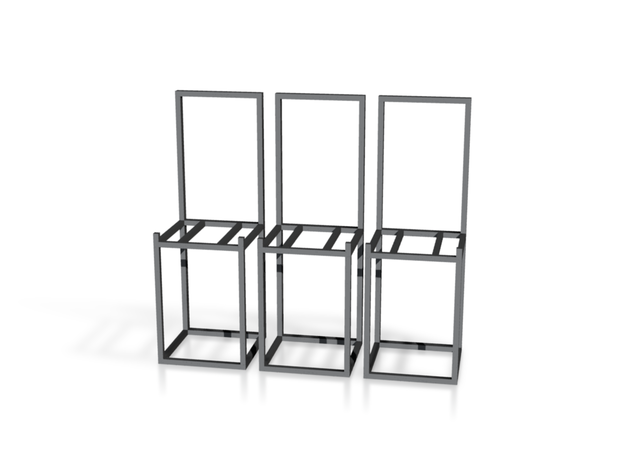 zz - Stand, chair style, tall - 3x 3d printed