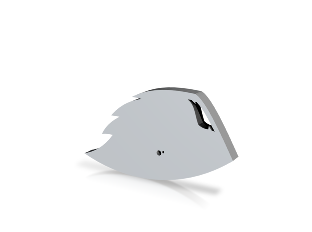Oregon State Beavers 3d Logo in White Strong & Flexible: Small