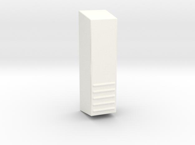 R1 Tk Back Piece in White Processed Versatile Plastic
