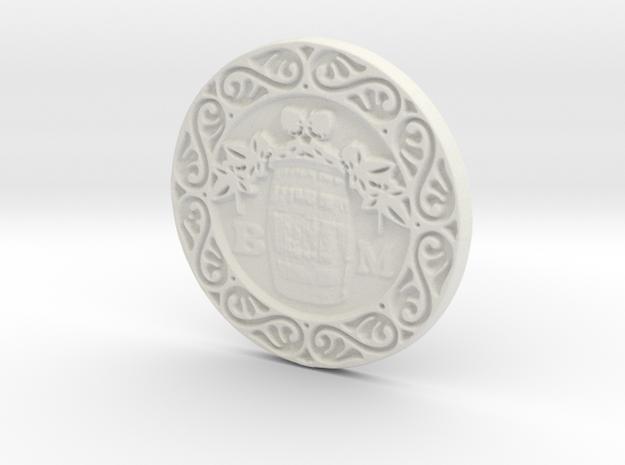 The Brew Monks Medallion in White Strong & Flexible