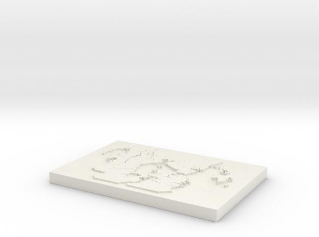 Midgard Map in White Natural Versatile Plastic