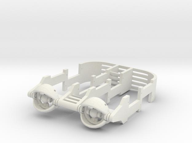 20mm Mechanical eye assembly. in White Natural Versatile Plastic