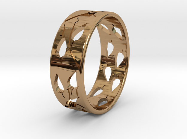 RING-LEAVES in Polished Brass