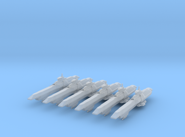Aran Dynasty Destroyer 6 Pack in Smooth Fine Detail Plastic