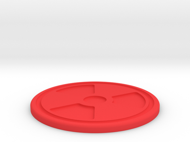 Rad Symbol Coaster in Red Strong & Flexible Polished