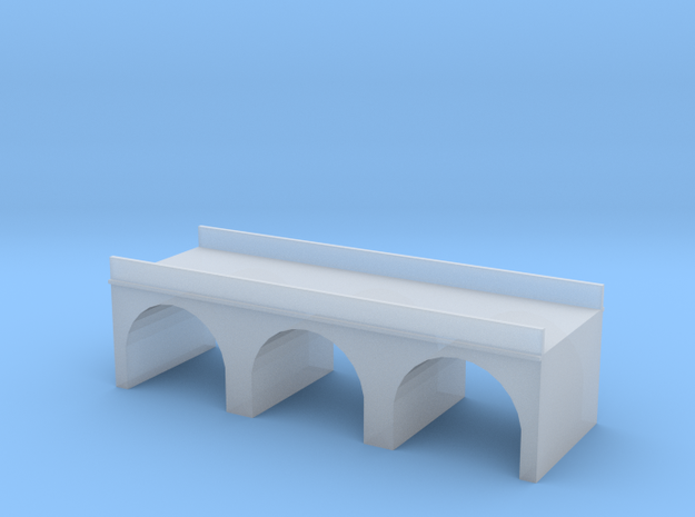 (1:450) Triple Arch Double Track 60mm Bridge in Frosted Ultra Detail