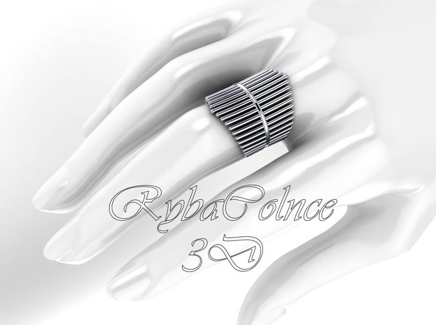 Ring The Design / size 10GK 5US ( 16.1 mm) in Fine Detail Polished Silver
