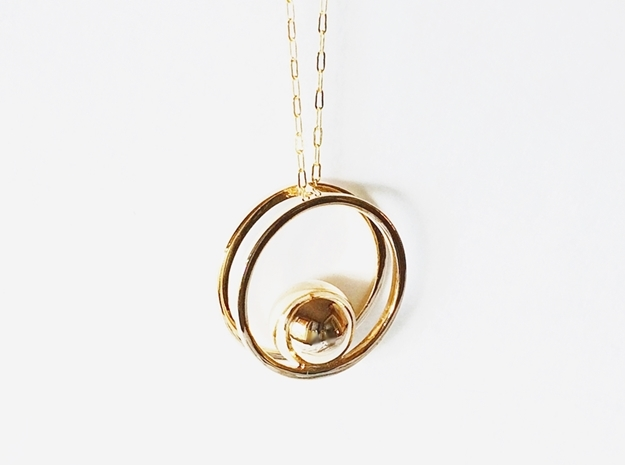 Minimalist Necklace - Yoga Pendant in Polished Bronze
