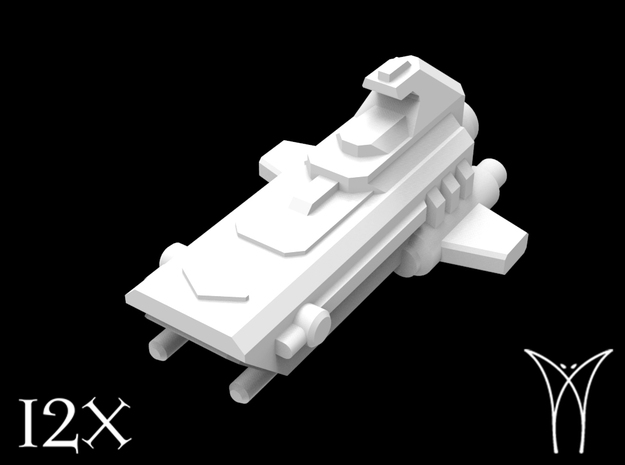 12 Relentless Assault Boats in Smooth Fine Detail Plastic
