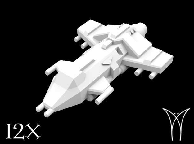12 Aquila Attack Fighters in Smooth Fine Detail Plastic
