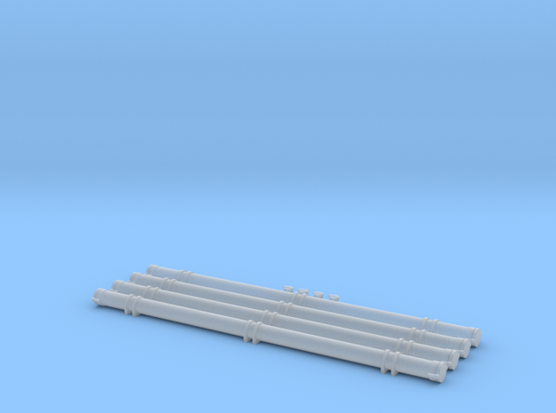 O Scale Pneumatic Hose Outets and Storage Tubes in Smooth Fine Detail Plastic