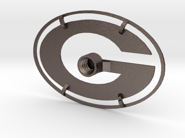 Packers Branding Iron in Polished Bronzed Silver Steel