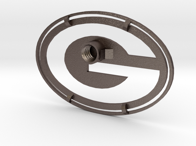 Packers Branding Iron Inverse in Polished Bronzed Silver Steel