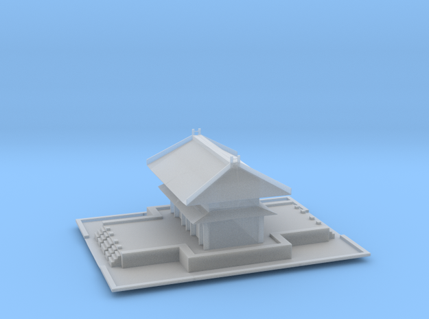 Mini Temple in Smoothest Fine Detail Plastic