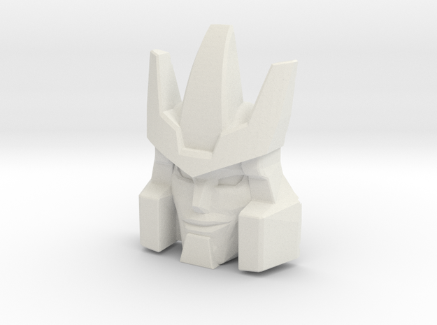 Galvatron Smirking Face, Helmet Sized (Titans Retu in White Natural Versatile Plastic