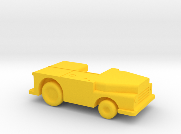 1/144 Scale USN Carrier MD Tow Tractor in Yellow Strong & Flexible Polished