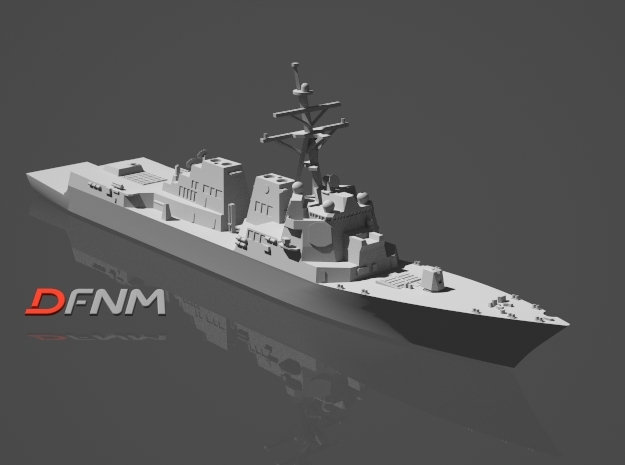 Arleigh Burke IIA (DDG-107 - DDG-112) in White Strong & Flexible: 1:700