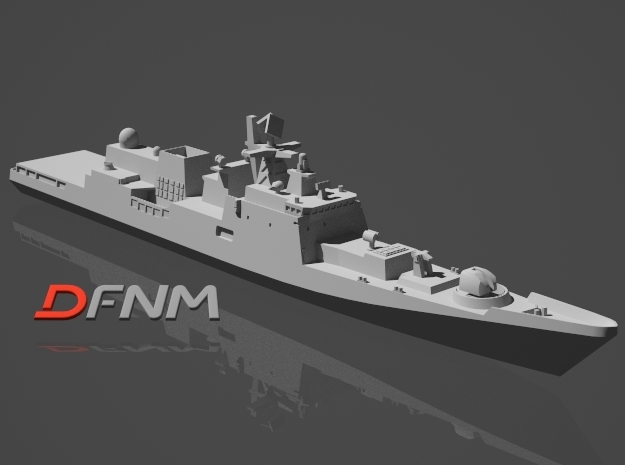 Talwar Class Frigate in White Strong & Flexible: 1:700