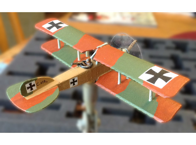 Albatros C.V/16 in White Natural Versatile Plastic: 1:144