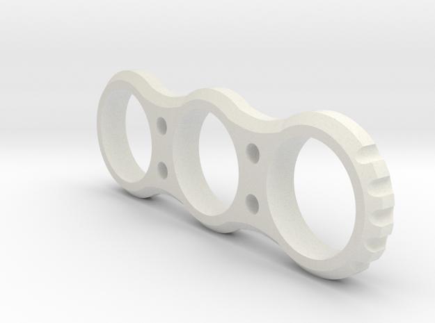 Hand EDC fidget Spinner Project Mk.I 90mm V2 in White Strong & Flexible