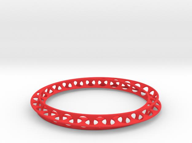 Mobius Bracelet in Red Processed Versatile Plastic