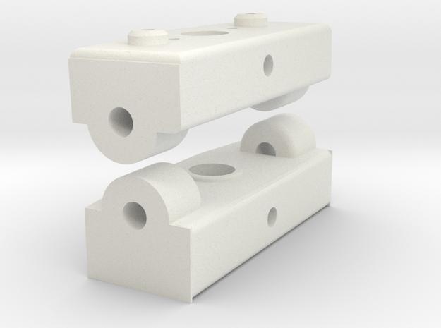 MRB 5 Gabelbrücke komplett in White Natural Versatile Plastic