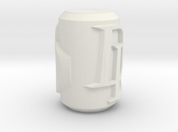 Daredevil themed Escrima endcaps in White Natural Versatile Plastic