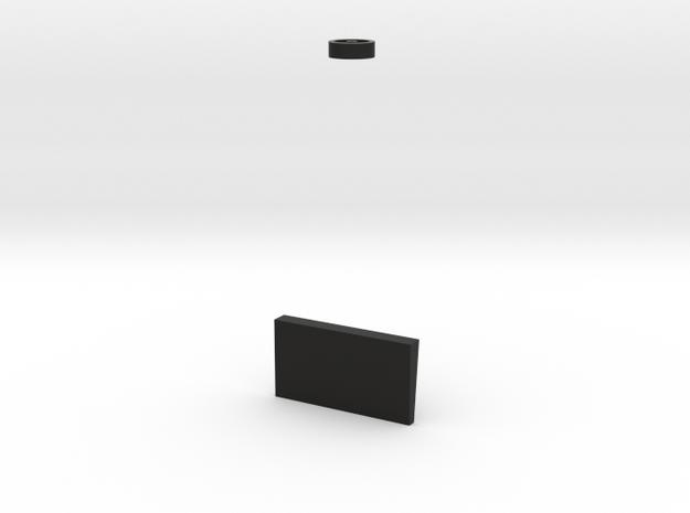 1:17 32Lb Carronade Pivotand roller in Black Natural Versatile Plastic