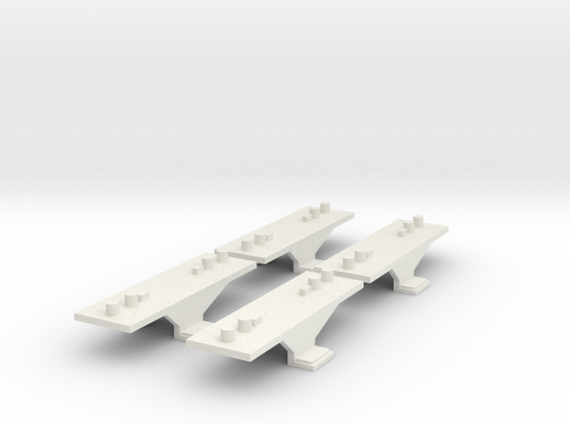 Container Adaptor for Roco/Fleischmann N scale wag in White Strong & Flexible