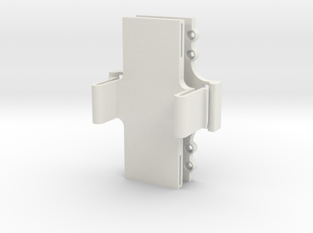 LIPO Battery Quick release Holder in White Strong & Flexible