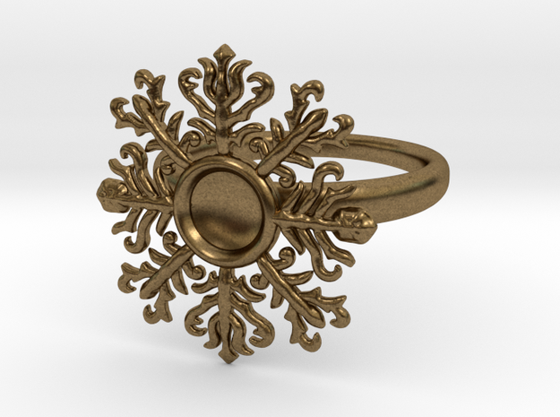 snowflake ring in Raw Bronze