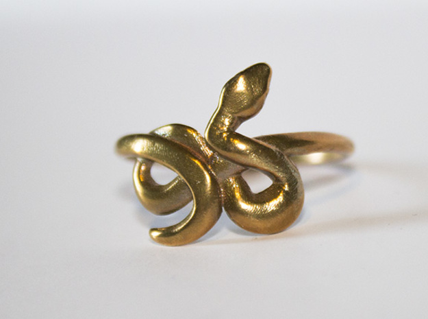 Slytherin Snake ring 8.5 in Raw Bronze
