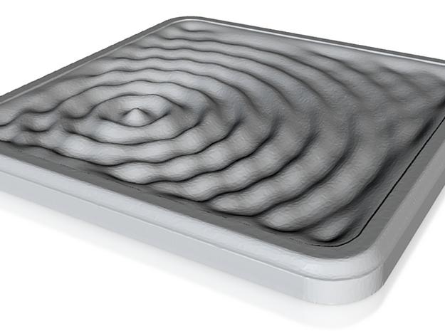 Ceramic Coaster: Water Ripples 1 3d printed