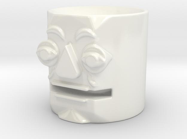 Ceramic Amplifier Head in Gloss White Porcelain