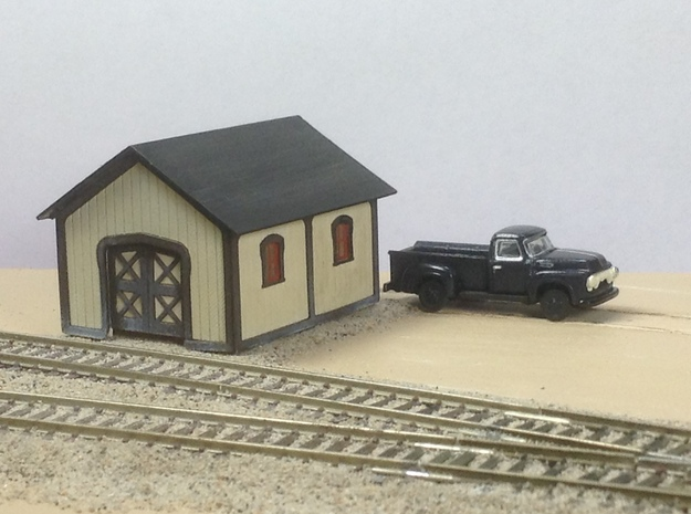 PRR Plan 57984-B TOOL SHED Kit in N Scale in Frosted Extreme Detail