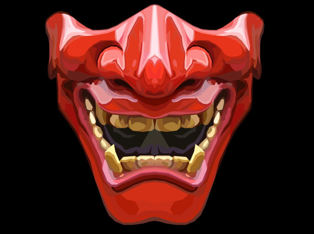 Demon Mask in Red Strong & Flexible Polished