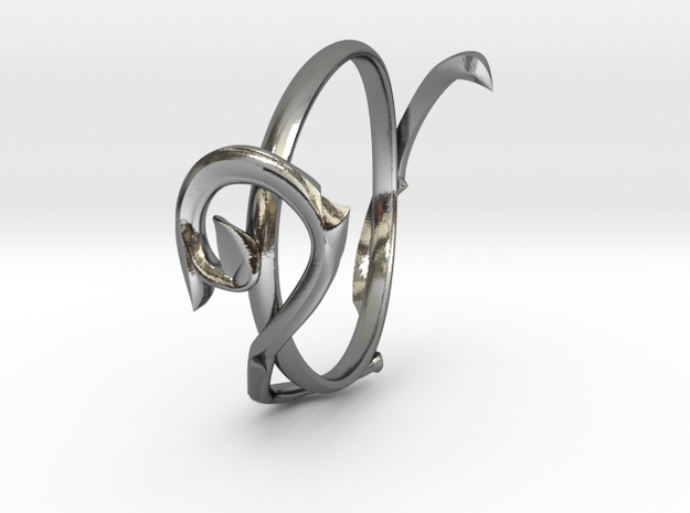 Treble Clef ring in Polished Silver: 6 / 51.5